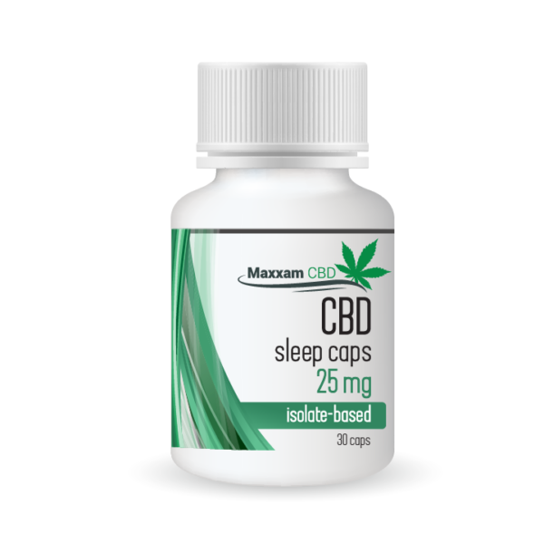 CBD Sleep Caps 25mg Isolated Based