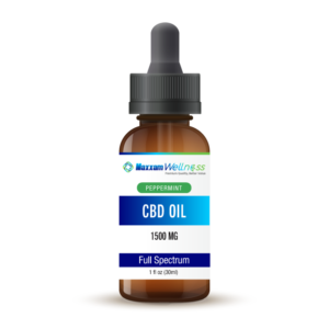 CBD Oil Tincture Drops Full Spectrum 1500mg Peppermint