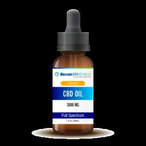 CBD Oil Tincture Drops Full Spectrum 3000mg Orange